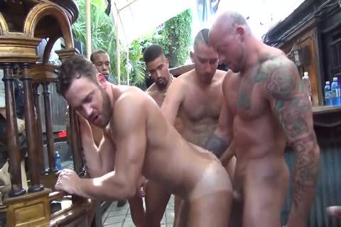 MusclePup Logan Moore acquires gang gangbanged & Barebacked poke