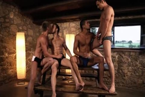 beautiful gay double penetration And cream flow