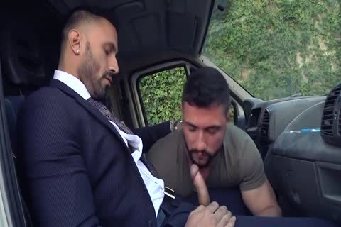 Alpha Truck Driver nailed By Suit Hunk
