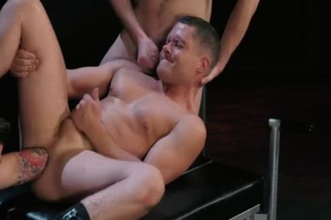 Sexy homo bare with cock juice flow