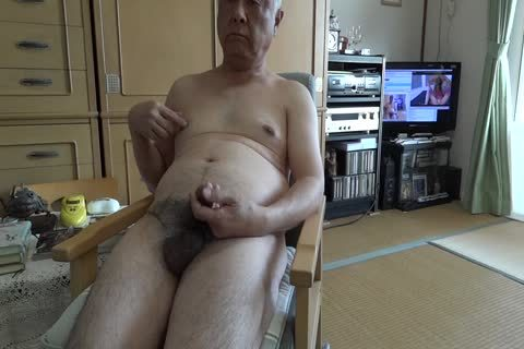 The Elderly ejaculate With bare Masturbation And drink ball batter