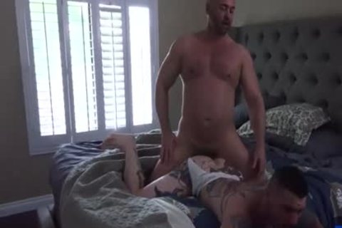 Tattoo homosexual butthole job With Creampie