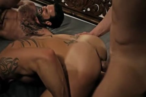 Excellent barebacked huge cock drilling playing with his cock