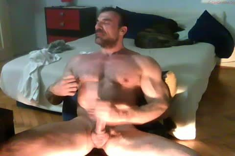 powerful daddy Hunk stroking