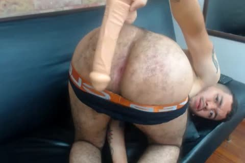 Colombian lad nails His bushy large butthole With dildo-Fingers, excited large Pink arsehole
