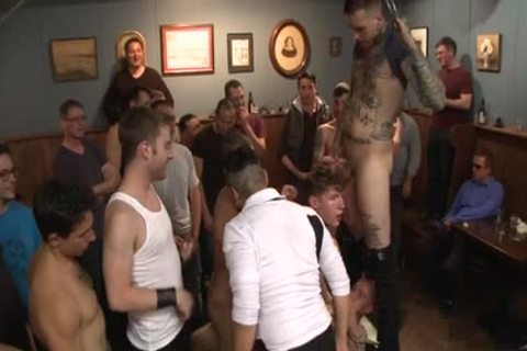 Tattoo Wolf tied With ass cumshot
