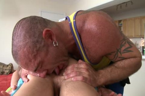 Daddy Massages His lad actually Hard