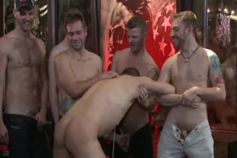 naughty gay spanking With Facial