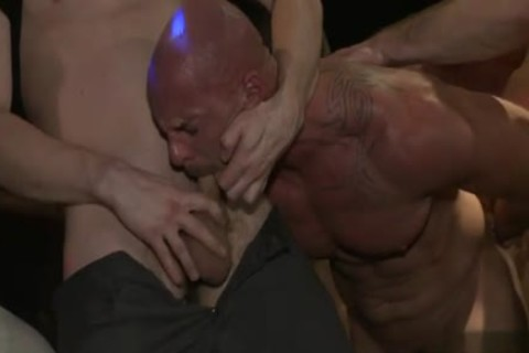 Muscle homo tied With ejaculation