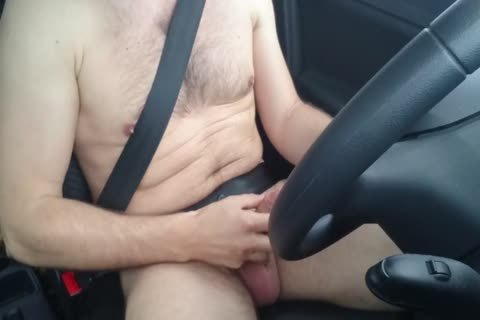 Jerking in nature's garb while Driving Car, jerk off Outdoor Near Road