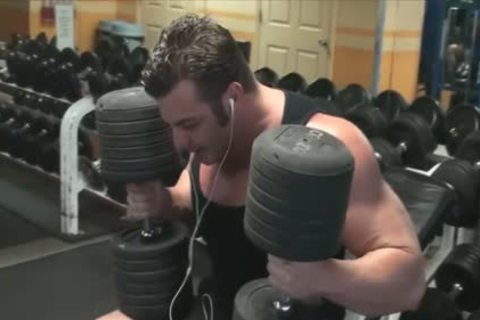 Frank Takes A bathroom & Works Out