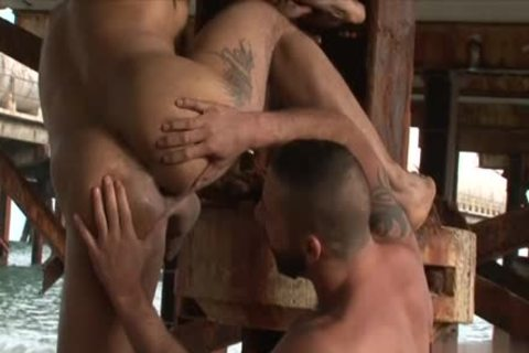 Slutty homosexual butthole sex and sperm flow