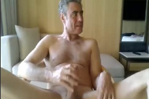 daddy jerking off In His Hotel Room