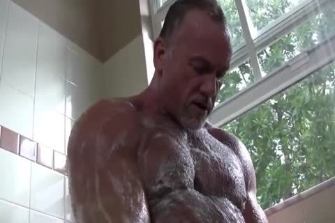 cute Muscle Daddy Mikey Shower jack off   cum