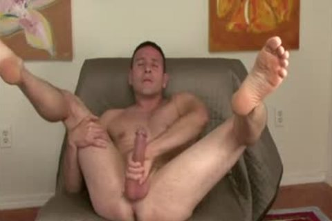 Dildo riding chap barebacked