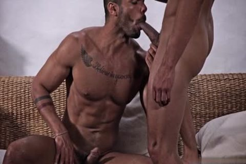 Large ramrod gay anal sex with cream flow