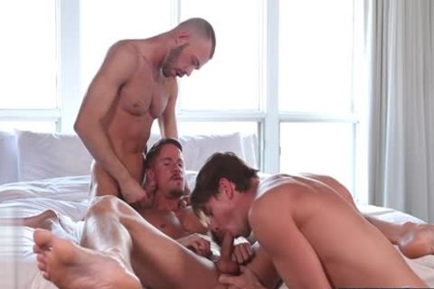 large ramrod gay 3some With Facial