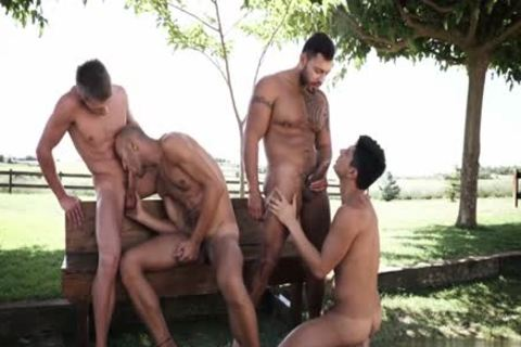Tattoo gay DP With sperm flow
