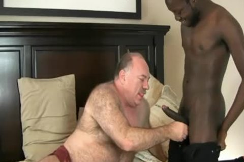 DADDY BEAR ENJOYS WITH black knob