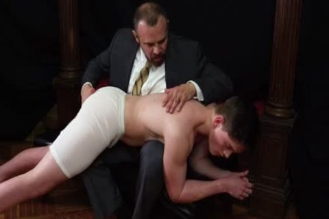 MormonBoyz - Priest Daddy Spanks pecker butthole Bent Over Knee
