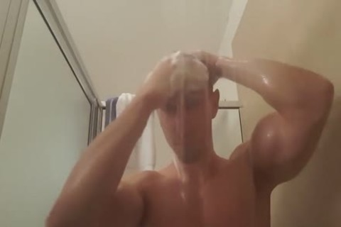 twink Plays With butt In Shower