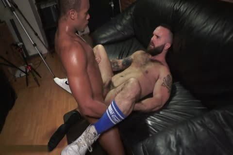 Hung black guy bangs A Bearded chap