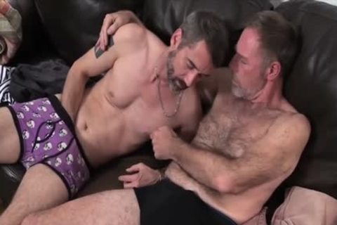 Two Dads fucking On The sofa fucked