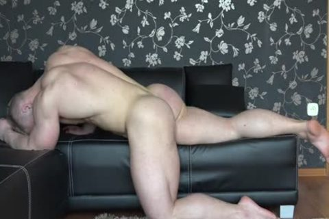 Gary Streched Out On couch nude