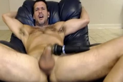 Hunk Vibrating His shlong On web camera