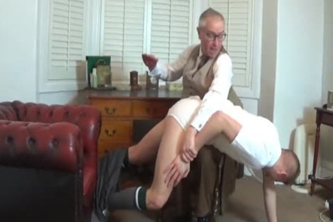 Bad Lad Spanked Over daddy's Knee