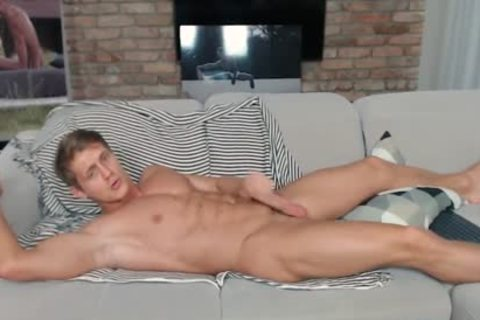 Eluan Jeunet On Flirt4Free - perfect Ripped Model Stroking His big weenie