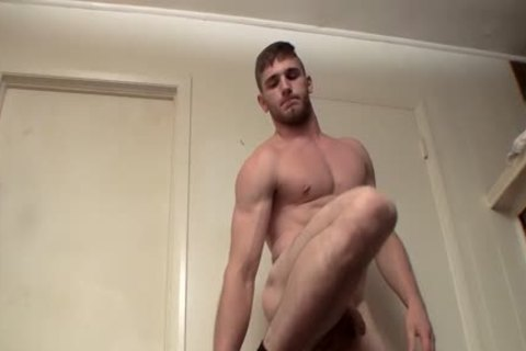 juvenile Hunk Elijah Knight Pissing previous to Solo Masturbation