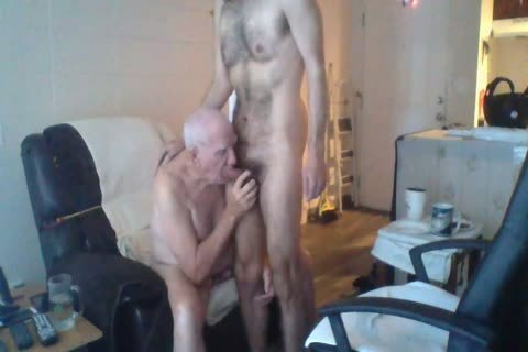 A young guy pleasing An Elderly guy