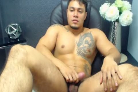 Allen Ferrer On Flirt4Free - Latino Hunk With hairy Pubes Jerks His ramrod