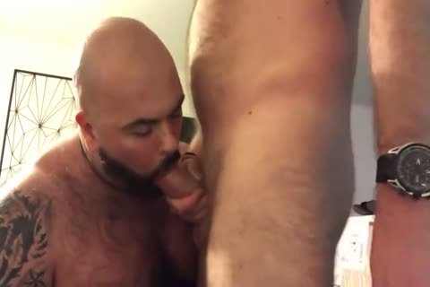 hairy Muscle penis-sucker