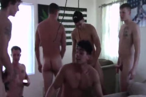 yummy twink receives poked By The gang