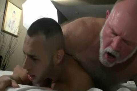 hairy grand-dad Has stunning Sex With A hot young weenie