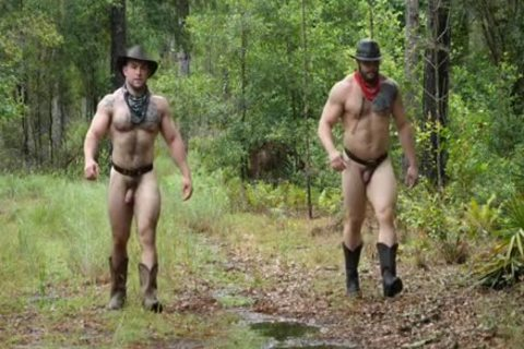 Two horny Muscle Males In The Woods