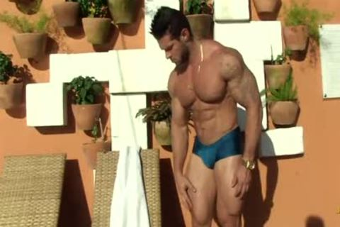 Gil Baiano - Clay Stone - nasty Oiled Hung Bodybuilder