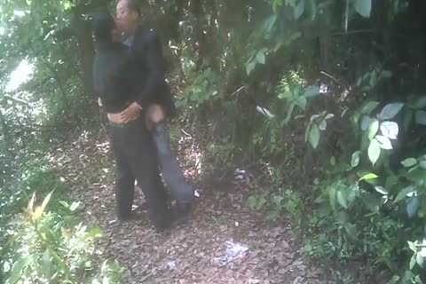 old asian boys have a fun It In The Forest