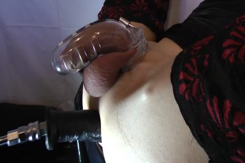 Sissy acquires fucked With Chastity Belt