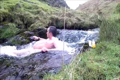 Half Hour naked Dip In Cold Scottish Waterfall In Winter
