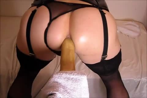 banging My arse With A fake penis whilst In lingerie