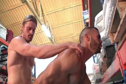 Two attractive Hunks Take Turns plowing Each Other.