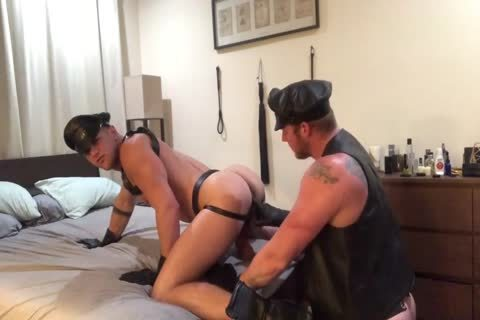A pair's Leather raunchy dream