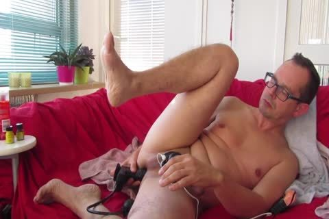 This DILF Enjoys Trying Out His recent dildo