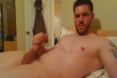 Hunk Jerking His chubby penis