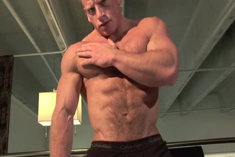 kinky Ben Kieren Bedroom Solo, hairy Muscle