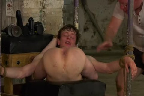 young homosexual Alex Faux Restrained For rough ass Play