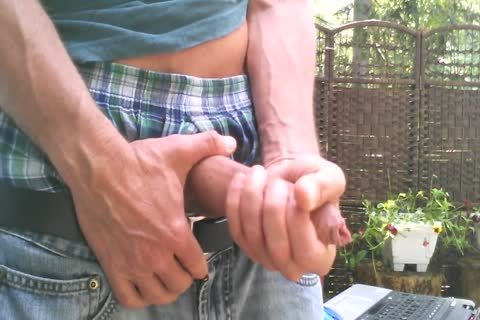 Outdoor Morning Edging Foreskin Play #1